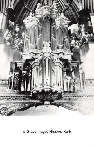Ansichtkaart 's-Gravenhage Nieuwe Kerk Orgel Dispositie HC26698