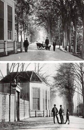 Ansichtkaart Zo was Dordrecht Koepel buitenplaats Noordhove Groenedijk tegenover Hallinqlaan omstreeks 1895 Hondenkar (1968) HC26785