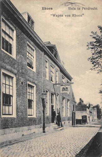 Ansichtkaart Rhoon Huis te Pendrecht Wapen van Rhoon IJsselmonde Albrandswaard HC26803