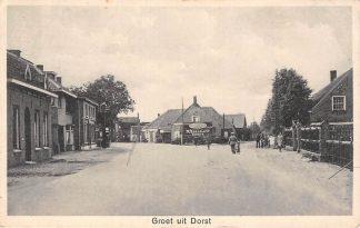 Ansichtkaart Dorst Groet uit met Ford Garage en benzinepomp Oosterhout HC26825