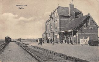 Ansichtkaart Wildervank Station met stoomtrein Spoorwegen Treinen HC26835