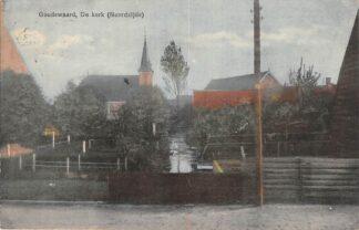 Ansichtkaart Goudswaard De kerk (Noordzijde) 1921 Hoeksche Waard HC26845