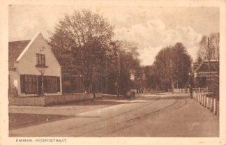 Ansichtkaart Emmen Hoofdstraat met tramspoor 1945 HC26848