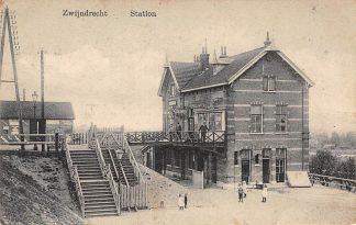 Ansichtkaart Zwijndrecht Station 1912 Spoorwegen HC26852