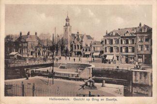 Ansichtkaart Hellevoetsluis Gezicht op Brug en Baantje 1931 HC26858
