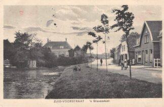 Ansichtkaart 's-Gravendeel Zuid-Voorstraat Hoeksche Waard 1926 HC26859