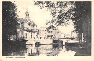 Ansichtkaart Schiedam Beursgebouw en sluis 1937 HC26864