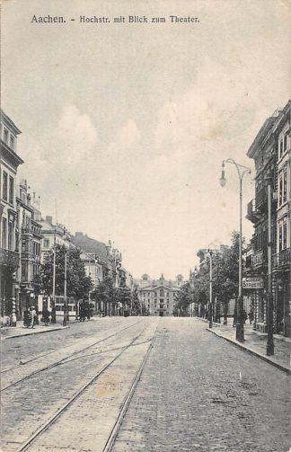 Ansichtkaart Duitsland Aachen Hochstr. mit Blick zum Theater 1909 Deutschland Europa HC26906