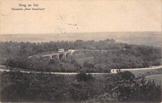 Ansichtkaart Berg en Dal bij Nijmegen Panorama Mooi Nederland met tram Bergspoor 1914 HC26925