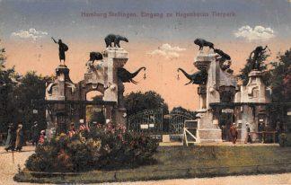 Ansichtkaart Duitsland Hamburg Stellingen Eingang zu Hagenbecks Tierpark 1923 Zoo Dierentuin Deutschland Europa HC26981