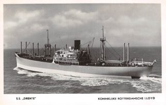 Ansichtkaart Rotterdam Koninklijke Rotterdamsche Lloyd S.S. Drenthe Schepen Scheepvaart HC27041