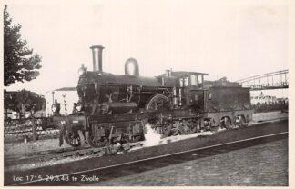 Ansichtkaart Zwolle Station Loc 1715 29.8.48 Spoorwegen Treinen HC27116