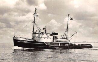 Ansichtkaart IJmuiden Diesel-electrische Sleepboot Zeeland 1959 N.V. Bureau Wijsmuller Scheepvaart Schepen  HC27140