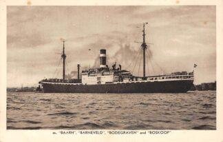 Ansichtkaart Amsterdam m.s. Baarn Barneveld and Boskoop N.V. Koninklijke Nederlandsche Stoomboot Maatschappij Scheepvaart Schepen HC27157