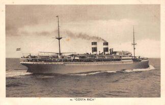 Ansichtkaart Amsterdam m.s. Costa Rica N.V. Koninklijke Nederlandsche Stoomboot Maatschappij Scheepvaart Schepen  HC27161