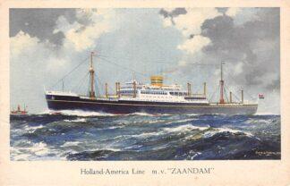Ansichtkaart Rotterdam m.v. Zaandam Holland America Line Scheepvaart Schepen HC27200