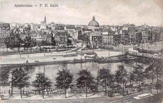 Ansichtkaart Amsterdam P. H. Kade Trams HC27230