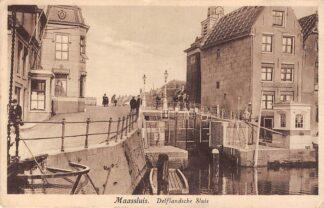 Ansichtkaart Maassluis Delflandsche Sluis 1930 HC27283