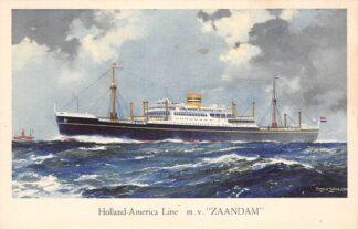 Ansichtkaart Rotterdam m.v. Zaandam Holland America Line Scheepvaart Schepen HC27339