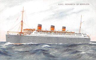 Ansichtkaart USA New York R.M.S. Monarch of Bermuda Furness Withy Scheepvaart Schepen Noord-Amerika HC27410