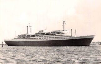 Ansichtkaart Rotterdam d.s.s. Rotterdam Het nieuwe vlaggeschip van de Holland Amerika Lijn 1959  Scheepvaart Schepen HC27482