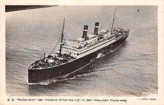Ansichtkaart Rotterdam s.s. Rotterdam der Holland Amerika Lijn in den Nieuwen Waterweg KLM Luchtfoto Scheepvaart Schepen HC27484
