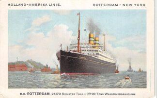 Ansichtkaart Rotterdam d.d. Rotterdam Holland Amerika Lijn Scheepvaart Schepen HC27495