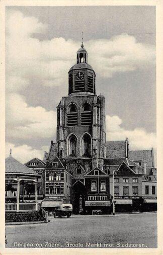 Ansichtkaart Bergen op Zoom Groote Markt met Stadstoren Bus HC27510