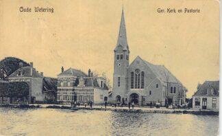 Ansichtkaart Oude Wetering Gereformeerde Kerk en Pastorie 1910 Tulp HC27517