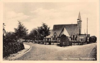 Ansichtkaart Lisse Driesprong Veldhorststraat Kerk 1947 HC27521