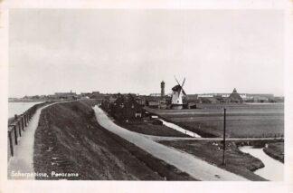 Ansichtkaart Scherpenisse Panorama met molen en watertoren 1948 HC27535