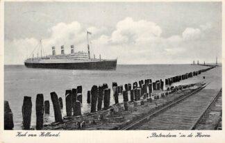 Ansichtkaart Hoek van Holland Rotterdam Statendam in de Haven 1937 Holland America Line Scheepvaart Schepen HC27558