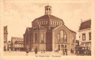 Ansichtkaart Purmerend De Groote Kerk 1927 Auto HC27575