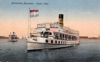 Ansichtkaart Amsterdam - Zaandam Veer Czaar Peter Binnenvaart schepen Binnenvaart HC27632