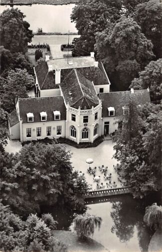 Ansichtkaart Appingedam Hotel Café Restaurant Landgoed Ekenstein 1966 KLM Luchtfoto no. 47405 HC27668