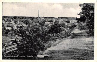 Ansichtkaart Nijverdal Panorama vanaf 't ravijn met spoorlijn 1949 Spoorwegen HC27697