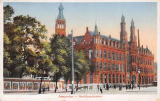 Ansichtkaart Amsterdam Hoofd postkantoor 1936 HC27712