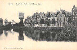Ansichtkaart België Ieper Watertoren Boulevard Malou et Chateau d'eau 1900 Europa HC27734