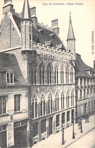 Ansichtkaart België Ieper Yper De Posthalle Ypres Postes Postkantoor 1900 Europa HC27800