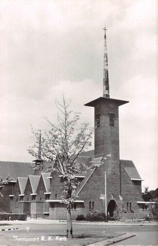 Ansichtkaart Santpoort R.K. Kerk 1960 Bloemendaal Haarlem Velsen HC27847