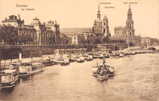Ansichtkaart Duitsland Dresden Raderboten Scheepvaart Schepen Deutschland Europa HC27869
