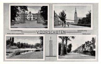 Ansichtkaart Voorschoten Zilverfabriek Burg. Berkhoutpark Leidseweg Papelaan HC27874