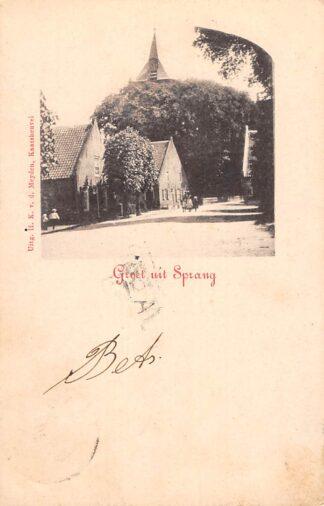 Ansichtkaart Sprang Groet uit 1902 Sprang-Capelle HC28032