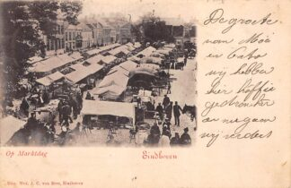 Ansichtkaart Eindhoven Op marktdag 1901 HC28076