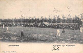 Ansichtkaart Leeuwarden Kaatspartij op 't Sport terrein 1906 HC28116