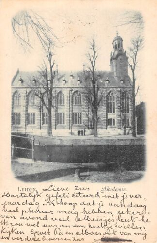 Ansichtkaart Leiden Akademie 1899 HC28308