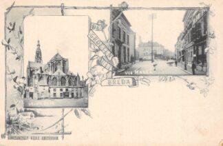 Ansichtkaart Breda Groote Kerk en Veemarkt HC28316