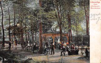 Ansichtkaart 's-Gravenhage Café Overbosch Bezuidenhout n1905 HC28397