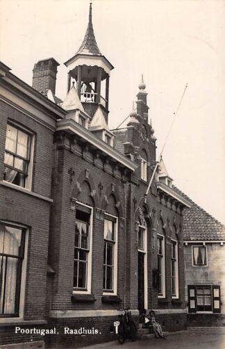 Ansichtkaart Poortugaal Raadhuis 1942 Rotterdam HC28413
