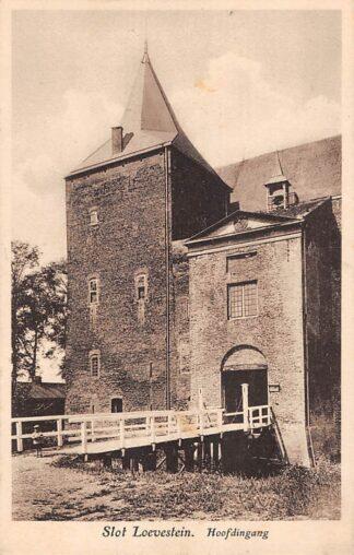 Ansichtkaart Woudrichem Hoofdingang Slot Loevestein Kasteel 1930 HC28423